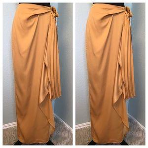 Beautiful Elie Tahari Mustard Yellow Maxi Skirt